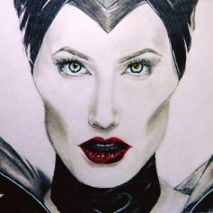 'Maleficent'. Graphite and coloured pencil drawing, took around 6 hours.