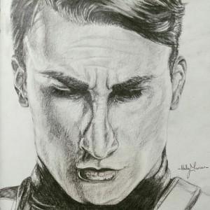 Steve Rogers- Captain America Portrait. (Chris Evans)