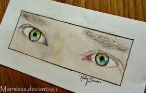 Benedict Cumberbatch's Eyes. And what a lovely pair they are! Done in coloured pencil