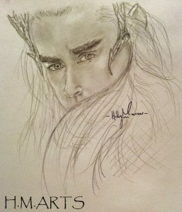 Thranduil small portrait, done about a year or so ago.