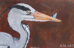 Grey Heron. Done as a commission for a friend.